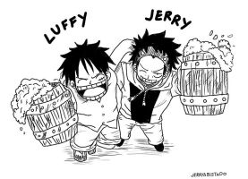 Jerry Meets Luffy by JERRYABISTADO
