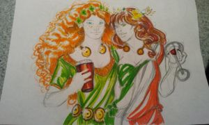 saint patrick and Unita' d'Italia 17. 3 by PaddyMoonshade