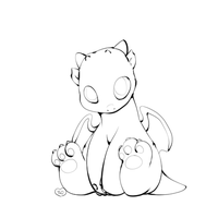 HW: Lil Baby Dragon Lineart by TheLonelyQueen