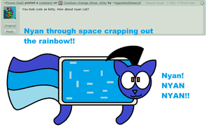 Creature change 18: Nyan Cat by Ask-Dib