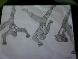 Spidey doing a no handed cartwheel by comics4life