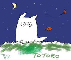 White Totoro by Twinky-Dink