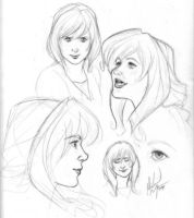 Marian sketches 02.15.09 by MichaelMayne
