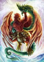Garuda battle Naga serpent by flukekung