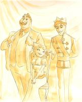 La Bouff Family Portrait by FlamiatheDemon