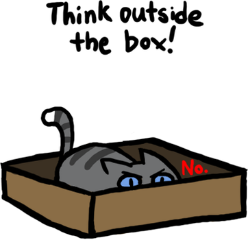 Cats love boxes by pSarahdactyls