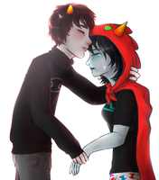 Karkat and Terezi: Kiss you better by AYRlA