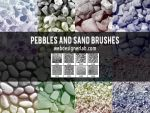 Pebbles and Sand Brushes by xara24