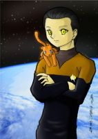 Lt. Data Fanart for Kaye-t by j4ever