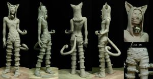 Cheshire Cat Maquette by Rowen-silver