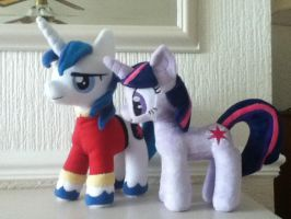 Twilight and Shining Armour - Brother and Sister by PlushieScraleos