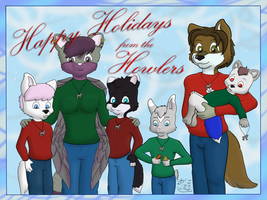 Happy Holidays from the Howlers by CodyTehFox