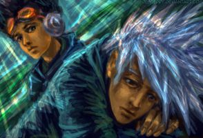 Kakashi, Obito - Time to go by jesterry