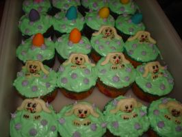 Easter Bunny and Egg Cupcakes by EzmasFortune