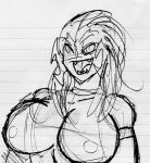 Crappy Azure Nude Bust Sketch by Warp-drive216