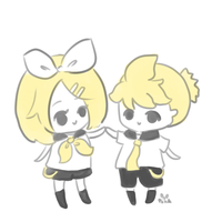 the kagamines by pinkbunnii