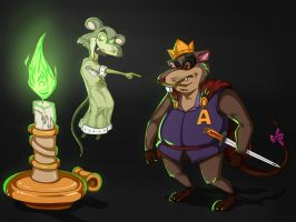 The Mouseking's Tale: Ghostly Royalty by GDeNofa