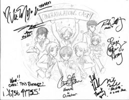 Ouran dub cast autographs YAY by kolidescope