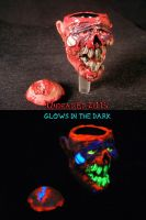 Zombie Bowl 10mm Male Slide by Undead Ed Glows in  by Undead-Art