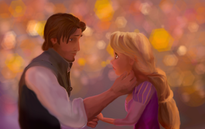 Tangled: Flynn and Rapunzel by GodLovesArt