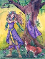 Lady of the Forest by Wulfemoon