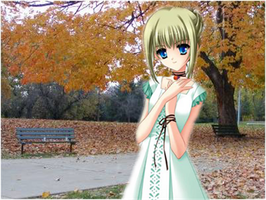 anime girl in park by sesshagi