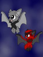 Wolf and Dark Star Bats by ShinySmeargle