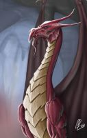 Red Great Wyrm by araeld
