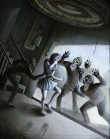 Maze Concept illustrations- Scare Tactic by Riskyo