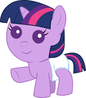 Baby Twilight Sparkle Waving by Mighty355