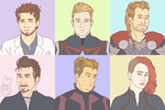 Avengers Age of New Haircuts by BarnCatz