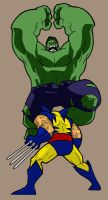 Hulk V. Wolverine Colored by ImNO