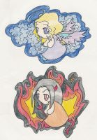 angel and devil magnets by Jaclyn-Annalise