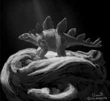 Daily Painting #44 - stegosaurus by maugryph