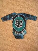 Tie Dye Smiley Face Onesie by Spudnuts