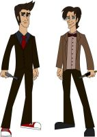 Doctor Who 10th and 11th by JediBandicoot