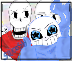 Undertale/Underswap - Picture time~!! by Returnmemory