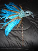 Turquoise Pheasant Mask 1 by Easnadh