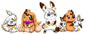 Creampuffs Family Full View by Kat-Skittychu