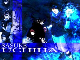 sasuke wallpaper by Amon666