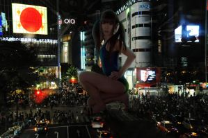 Night out by GIANTESS-X