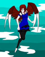 hovering in the sky by heatherhigurasshi