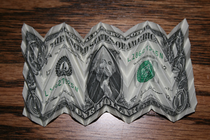 Another folded dollar by MuggleHater