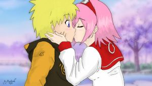 NaruSaku One Kiss by VashKun4e