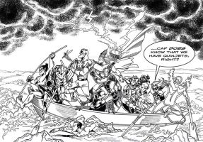 LIID Week 86 BONUS: Avengers Crossing the Delaware by johntrumbull