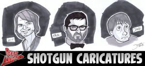 Shotgun Caricatures 1 by callmemilo
