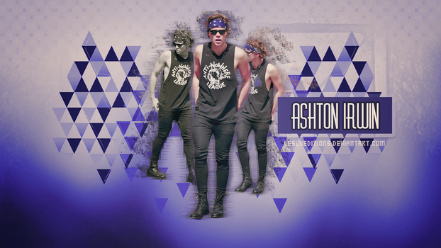 (wall3.) ashton irwin blue by LesliiEditions