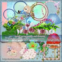 preview Joyfull Spring papers and elements by Creativescrapmom
