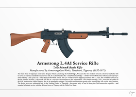Armstrong L.4A1 Service Rifle (NationStates) by Artifician