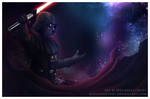 Darth Vader - Across the Stars by KaelaCroftArt